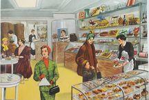 negozi, illustrazioni