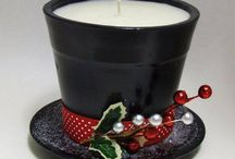 Vánoční svíčky DIY