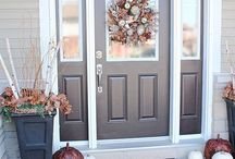 Make an Entrance / A collection of beautiful inspirations including front doors and porches, mud rooms, entryways, foyers and entry halls.