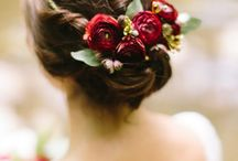 Wedding Day Hair Floral Pieces Inspiration