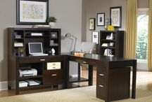 Carlton Home Office Collection / Inspired by the kathy ireland Home™  Architectural Style Guide™, Carlton boasts  modern architectural flare with clean lines  and a clear bourbon finish. Complementing  any décor, Carlton is a perfect addition to any  home.