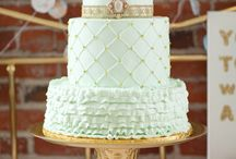 Mint Green & Gold (with a touch of Blush to soften) x / Wedding colour scheme - delicious!