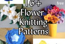 flower knitting patterns