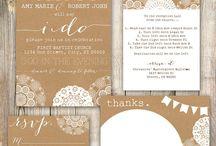 Invitations and stationary