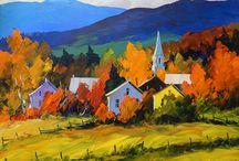 Cores Vibrantes nas Pinturas de Christian Bergeron