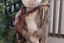 Primitives Christmas Dools / Raccolta di bambole Primitive stile natalizio
