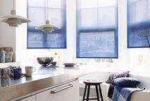 Feeling blue / Laat je verrassen door blauw in je interieur! Deze kleur geeft rust en zowel mannen als vrouwen zijn er gek op. Doe hier inspiratie op. Kijk voor meer raamdecoratie met stoffen en materialen in verschillende tinten blauw op www.bece.nl.