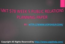 MKT 578 Week 5 Public Relations Planning Paper