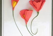 Paper flowers etc