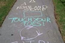 sidewalk chalk ideas