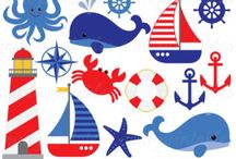 Clipart water and sea themes