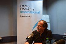 """Richard Galliano la Radio Romania International. / Celebrul acordeonist francez Richard Galliano a fost oaspetele RRI, în cadrul programului """"RRI Spécial"""", realizat de Andrei Popov, de la Secţia Franceză (foto Eugen Cojocariu)"""