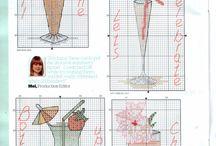 bar & cocktail cross stitch