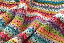 Crochet afghan-striped / by Sudi6