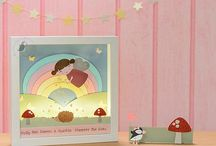 Night Lights For Kids | New Baby | Lighting | Baby Boy | Baby Girl | Nursery Decor / Paper cut and crafted Night Lights for Baby's Nursery and Children's Bedrooms.  Contain battery operated safe LED night lights for a soft glow.  All Night Lights are handmade by Pink Puffin Crafts and can be personalised.