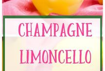 champagne limoncello Sangria.