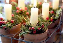 Juletid / Vackra juldekorationer inomhus.