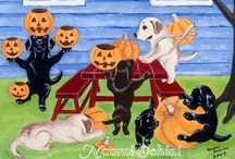 Halloween Labrador Artwork and Gifts