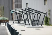 Bicycle Shelters / A series of shelters with optimized designs for functional elements.