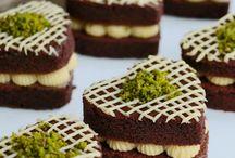 kakaolu küçük kalp pastacıklar