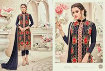 2664 Balet Cut georgette with velvet embroidery work salwar suit set