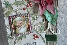 kerst kaarten / scrap kerst kaarten