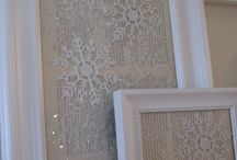 Winter mantle and decorations / Winter mantle/ decor