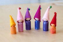 craft - peg / bendy dolls