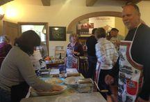 Cooking Lesson in Chianti / Lezioni di Cucina e Degustazioni di Vino di Panzanello  Una serata veramente molto divertente..come mostrano le foto!!