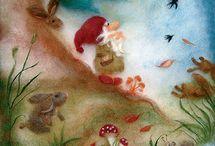 Woolpictures~ Wol schilderijen naaldvilten