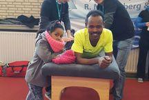 Annendaalloop 2016 / Fysiotherapie R. Minkenberg & G. Theisen tijdens de Annendaalloop 2016 te Posterholt