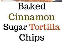Baked cinnamon tortillas chips