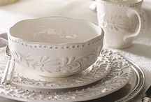 farmhouse dinnerware and stemware