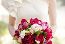 autumn and red bouquets