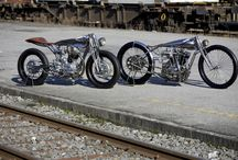 Retro MOTORBIKEs / Board of my favorite categories of motorcycles. The old, pre-war and new, stylized and decorated in vintage style.