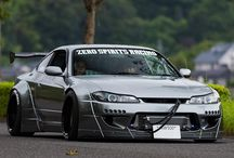 JDM / A collection of tricked-out rides.