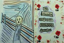 """O BERRO NEWS / Se con estas novas dos xornais non pos o berro no ceo...é que tes corazón de xeo   (Baseado en """"El Grito"""" de Munch)"""
