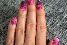 My nails / What I do with my nails - designs, watermarble, ombre etc.