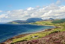 """Isle of ARRAN*(Scotland in miniature)♥ / Arran is the 7th largest Scottish isle and largest in the Firth of Clyde.""""Affectionately known as Scotland in miniature"""" Holy isle is just off the Isle of Arran."""