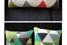 tapestry crochet geometric, text