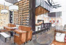DESIGN SKETCHES / Fashion Design & Interior Design Sketches