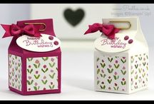 Mini Milk Carton die / Box inspirations using the Mini Milk Carton Die SU