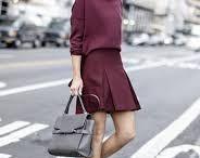 Lookbook: Burgundy skirt