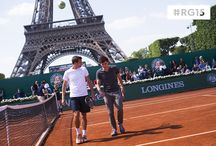 #RG15 Roland-Garros dans la ville / What about enjoying Roland Garros under the Eiffel Tower? Sit on the grass of the Champ de Mars in front of the giant screens, walk around the Village and play on the clay court there!   Que diriez-vous de regarder Roland-Garros au pied de la Tour Eiffel ? Un écran géant, un Village et même un court de terre battue vous attendent !