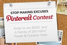 Stop Making Excuses / Pin to Win $500 plus cool prizes. Learn more and enter here >> http://bit.ly/1AGWb8B #stopmakingexcuses #pintowin #blackanddecker
