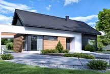 HomeKONCEPT 44 | Projekt domu / Projekt domu parterowego o nowoczesnej stylistyce i niewielkiej powierzchni użytkowej.