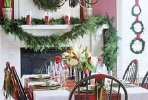 Christmas decorating ideas/Table settings