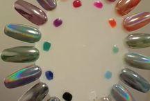 holografic nails