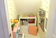 Under stairs toy room/den