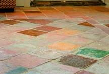 Frans antiek stenen vloer